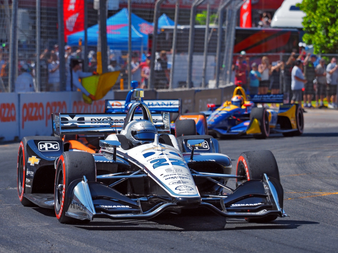 Simon Pagenaud in the DXC Technology car.