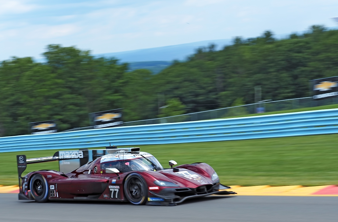 Mazda #77 shatters the Watkins Glen lap record to seize pole.