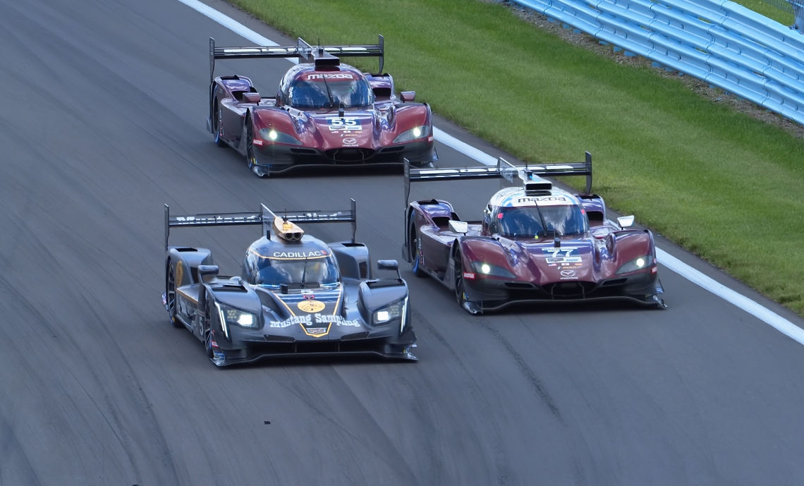 Mazda Duo command the lead at Turn #1.