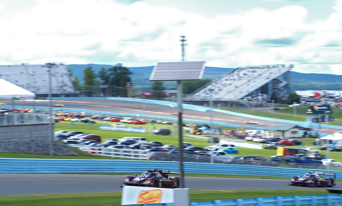 The Mazda Duo chase Montoya for 16 laps.